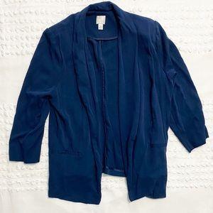 Lauren Conrad open-front navy blazer 16
